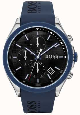 Boss El | velocidad de los hombres | correa de caucho azul | esfera negra | 1513717