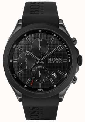 Boss El | velocidad de los hombres | correa de caucho negro | esfera negra | 1513720