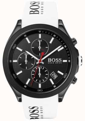 Boss El | velocidad de los hombres | correa de goma blanca | esfera negra | 1513718