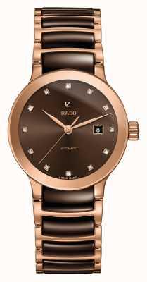 Rado Reloj de pulsera de cerámica con diamantes automáticos Centrix R30183752
