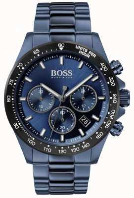 Boss El | hombres | hero sport lux | pulsera de acero azul | esfera azul | 1513758