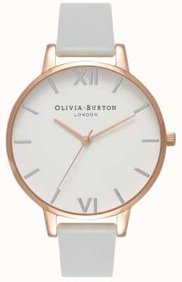 Olivia Burton El | mujeres | dial grande | correa vegana gris | OB16BDV02