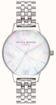 Olivia Burton | mujer | esfera de nácar | pulsera de acero inoxidable | OB16MOP02