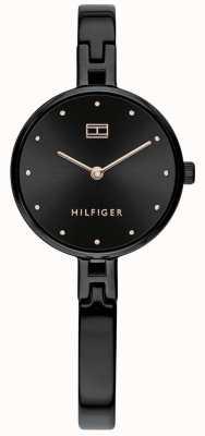 Tommy Hilfiger El | kit de mujer | pulsera de acero inoxidable negro | esfera negra 1782136