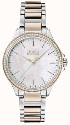 BOSS El | diamantes para ella | pulsera de dos tonos | madreperla 1502524
