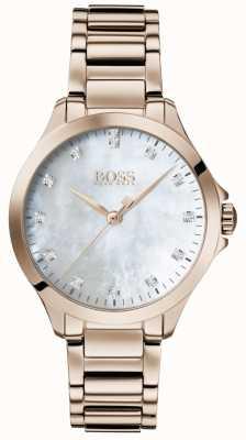 BOSS | diamantes para ella | oro rosa | nácar | 1502523