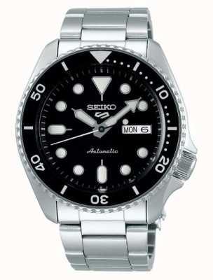 Seiko 5 deporte | deportes | automático | esfera negra | acero inoxidable SRPD55K1