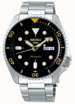 Seiko 5 deporte | deportes | automático | esfera negra y amarilla SRPD57K1