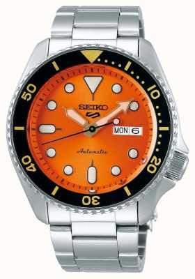 Seiko 5 deporte | deportes | automático | esfera naranja | acero inoxidable SRPD59K1