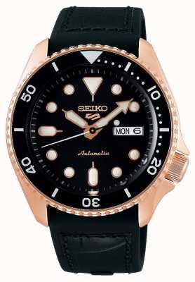 Seiko 5 deporte | especialista | automático | oro rosa y negro SRPD76K1