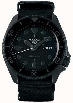 Seiko 5 deporte | calle | automático | esfera negra | otan negro SRPD79K1