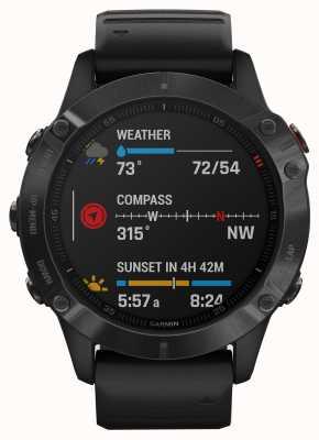 Garmin Fenix 6 pro | reloj inteligente multideporte | correa de caucho negro 010-02158-02