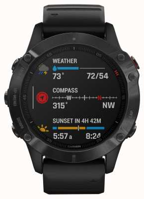 Garmin Fenix 6 pro gorila glass | reloj inteligente multideporte | correa de caucho negro 010-02158-02