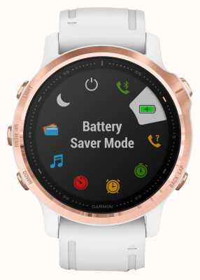 Garmin Fenix 6s pro | reloj inteligente multideporte | correa de oro rosa blanco 010-02159-11