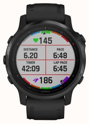 Garmin Fenix 6s pro gorila glass | reloj inteligente multideporte | correa de caucho negro 010-02159-14