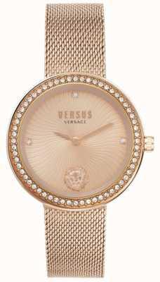 Versus Versace El | léa de mujer | pulsera de malla de oro rosa | esfera de oro rosa | VSPEN0919