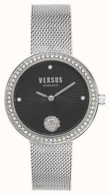 Versus Versace El | léa de mujer | pulsera de malla de plata | esfera negra | VSPEN0719