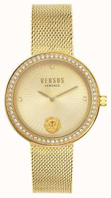 Versus Versace El | léa de mujer | pulsera de malla de oro | esfera de oro | VSPEN0819