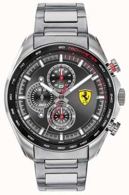 Scuderia Ferrari El | corredor de velocidad de los hombres | pulsera de acero inoxidable | esfera negra 0830652