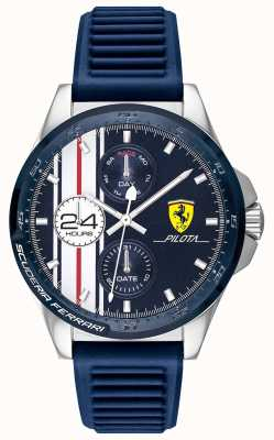 Scuderia Ferrari El | pilota de hombre | correa de caucho azul | esfera cronógrafo azul | 0830660