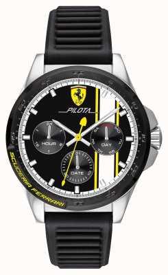 Scuderia Ferrari El | pilota de hombre | correa de caucho negro | esfera cronógrafo negro 0830659