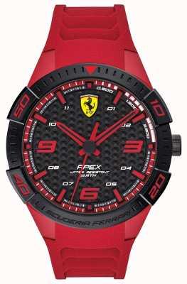 Scuderia Ferrari El | ápice de los hombres | correa de goma roja | esfera negra / roja | 0830664