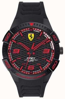 Scuderia Ferrari El | ápice de los hombres | correa de caucho negro | esfera negra / roja | 0830662