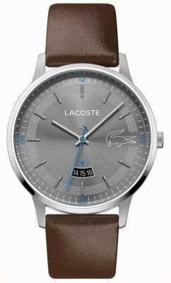 Lacoste El | hombres madrid | correa de cuero marrón | esfera gris | 2011033