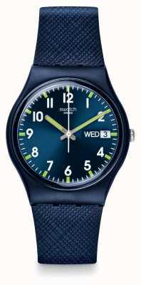Swatch El | caballero original | señor reloj azul | GN718