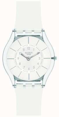 Swatch El | piel clásica | reloj blanco con clase | SFK360
