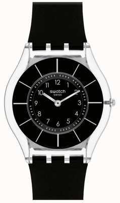 Swatch El | piel clásica | reloj negro con clase | SFK361