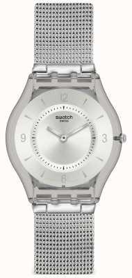 Swatch El | piel clásica | reloj de punto de metal | SFM118M