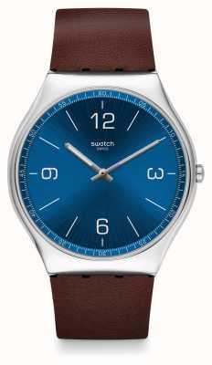 Swatch El | piel ironía 42 | reloj de viento de piel | SS07S101