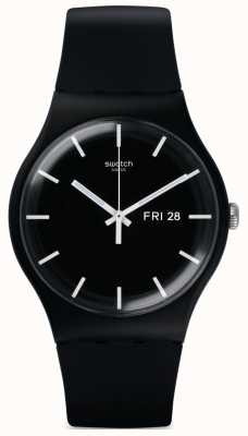 Swatch El | nuevo caballero | reloj mono negro | SUOB720