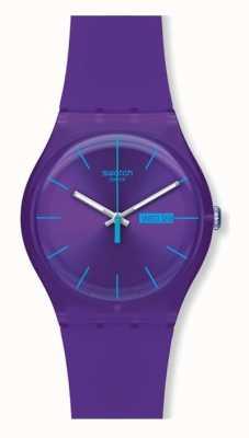 Swatch El | nuevo caballero | reloj rebelde púrpura | SUOV702
