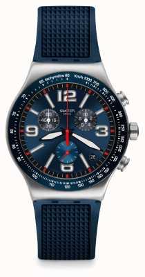 Swatch El | nueva ironía crono | reloj de rejilla azul | YVS454