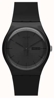 Swatch El | nuevo caballero | reloj rebelde negro | SUOB702