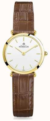 Michel Herbelin El | mujeres | épsilon | correa de cuero marrón 17106/P11GO