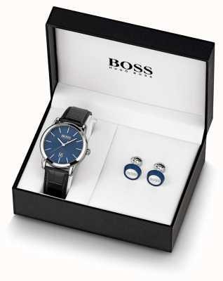 BOSS El | hombres | reloj azul y gemelos | 1570092