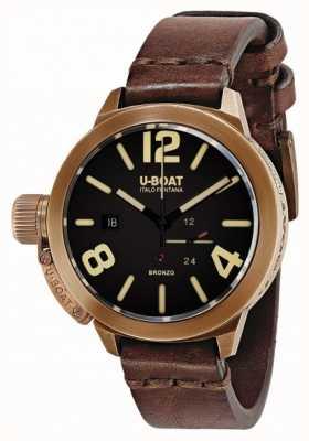 U-Boat Classico 50 bronzo una correa marrón 8104