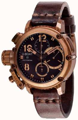U-Boat Chimera chrono 43mm correa marrón bronce 8014