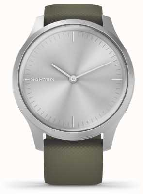 Garmin Estilo Vivomove | caja de aluminio plateado | correa de silicona musgo 010-02240-01