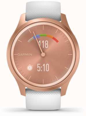 Garmin Estilo Vivomove | caja de aluminio en oro rosa | correa blanca 010-02240-00
