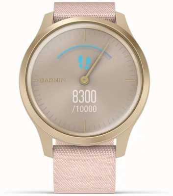 Garmin Estilo Vivomove   caja de aluminio dorado claro   correa rosa 010-02240-02