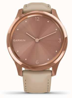 Garmin Vivomove luxe | Caja de pvd de oro rosa de 18 quilates | cuero italiano 010-02241-01