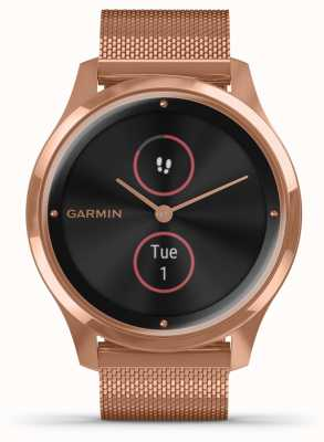 Garmin Vivomove luxe | Caja de 18ct pvd | correa milanesa de oro rosa 010-02241-04