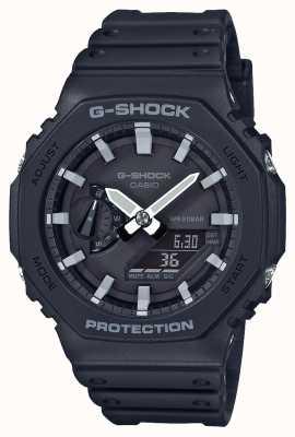 Casioak | núcleo de carbono g-shock | serie octágono | correa de resina negra | GA-2100-1AER