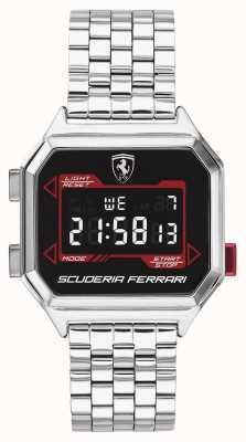 Scuderia Ferrari El | digidrive para hombres | pulsera de acero inoxidable | esfera negra | 0830703