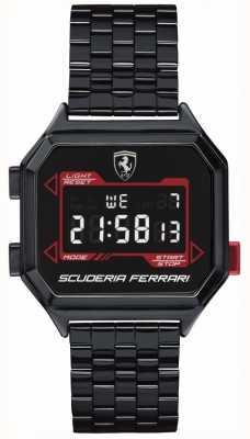 Scuderia Ferrari El | digidrive para hombres | pulsera chapada en iones | esfera negra | 0830704
