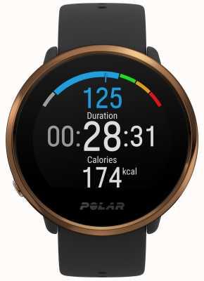 Polar El | encender | reloj de fitness negro y cobre | m / l | caucho negro 90079362